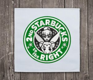 Second Starbucks to the Right Embroidery Design - Instant Download